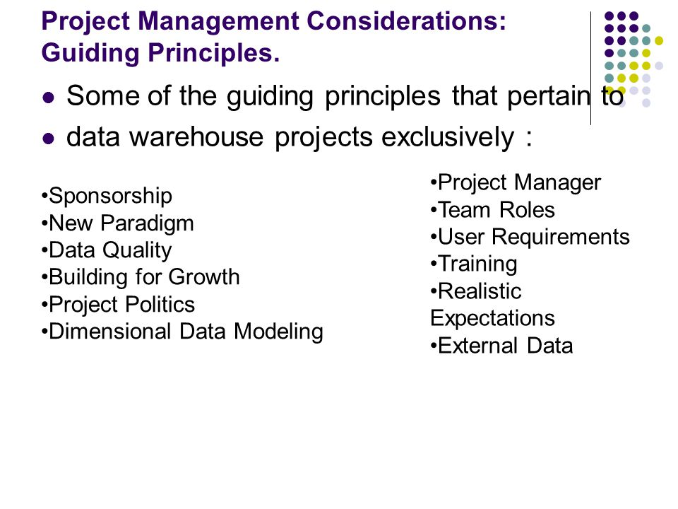 Principles Of Data Acquisition Experiment : Planning a data warehouse ppt download