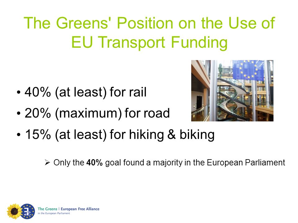 The Greens Position on the Use of EU Transport Funding