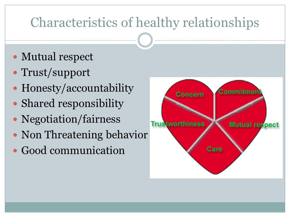 Characteristics of Healthy & Unhealthy Relationships