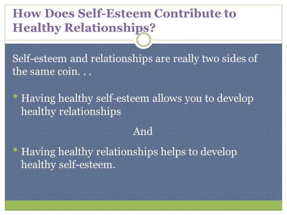 how to combat self esteem issues relationship