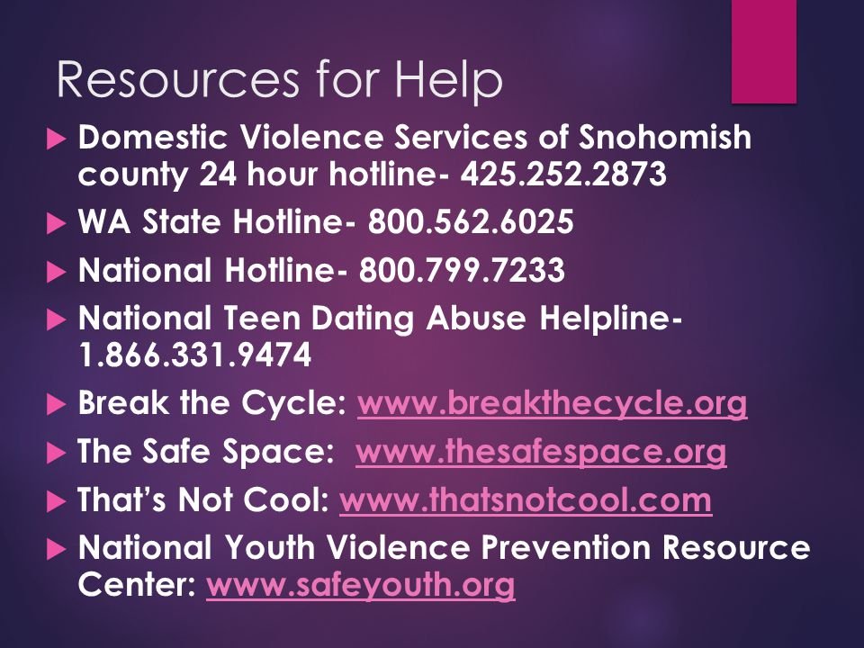 national dating abuse hotline number Loveisrespect is the ultimate resource to empower youth to prevent and end dating abuse it is a project of the national domestic violence hotline.