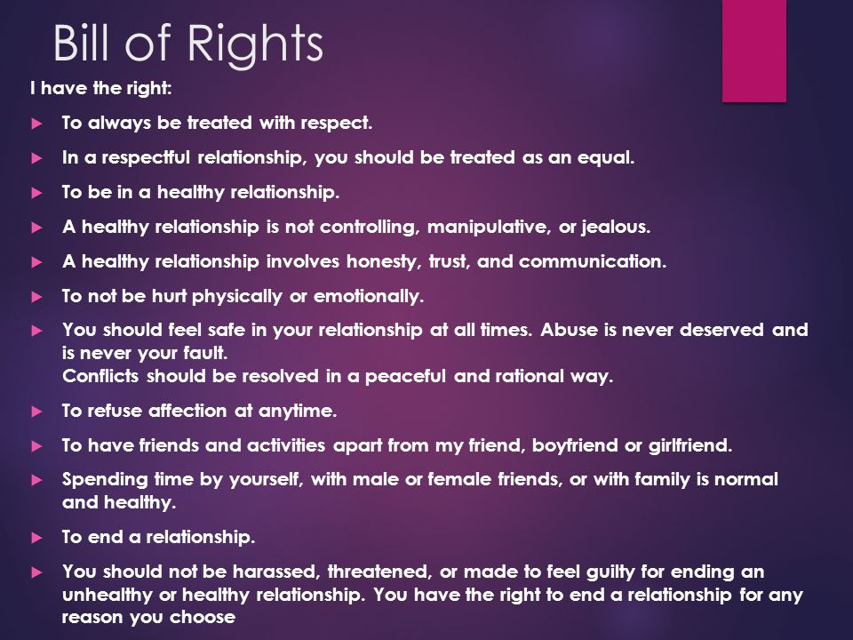 what are my rights when a relationship ends