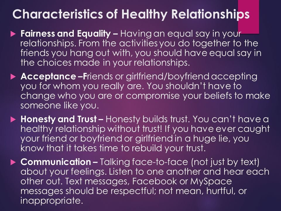 Healthy relationship essay