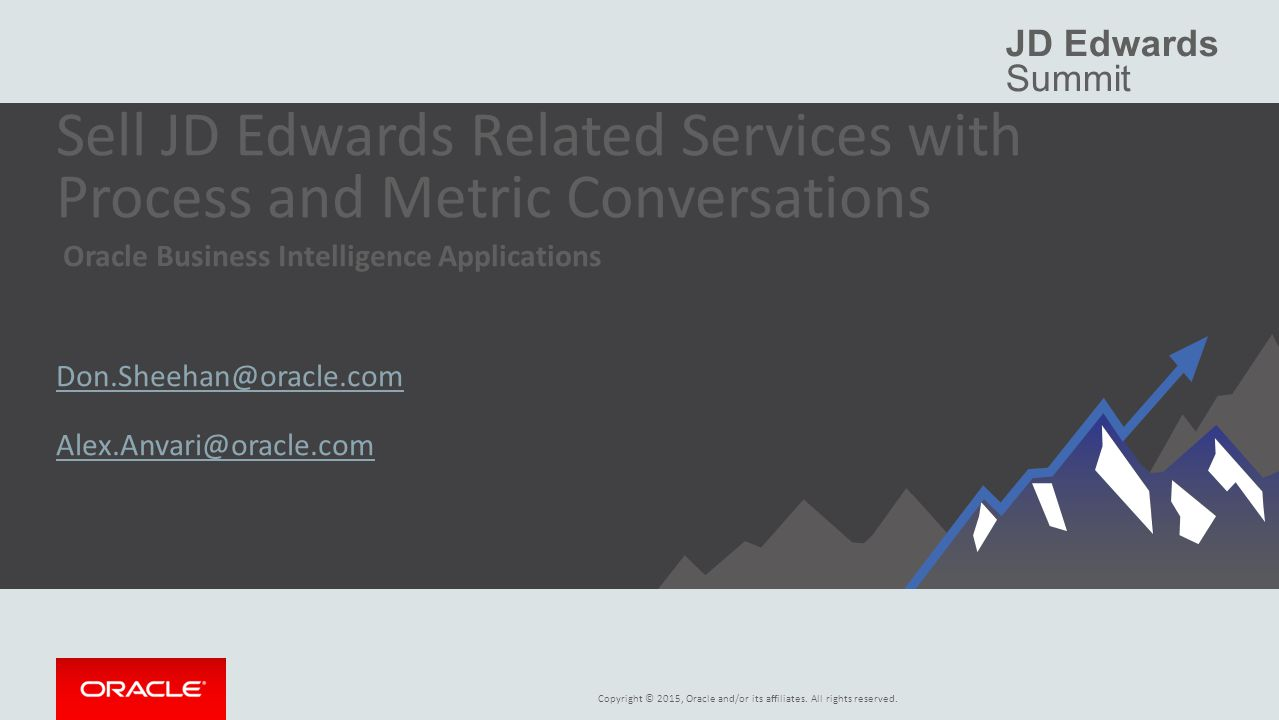 Sell JD Edwards Related Services with Process and Metric Conversations