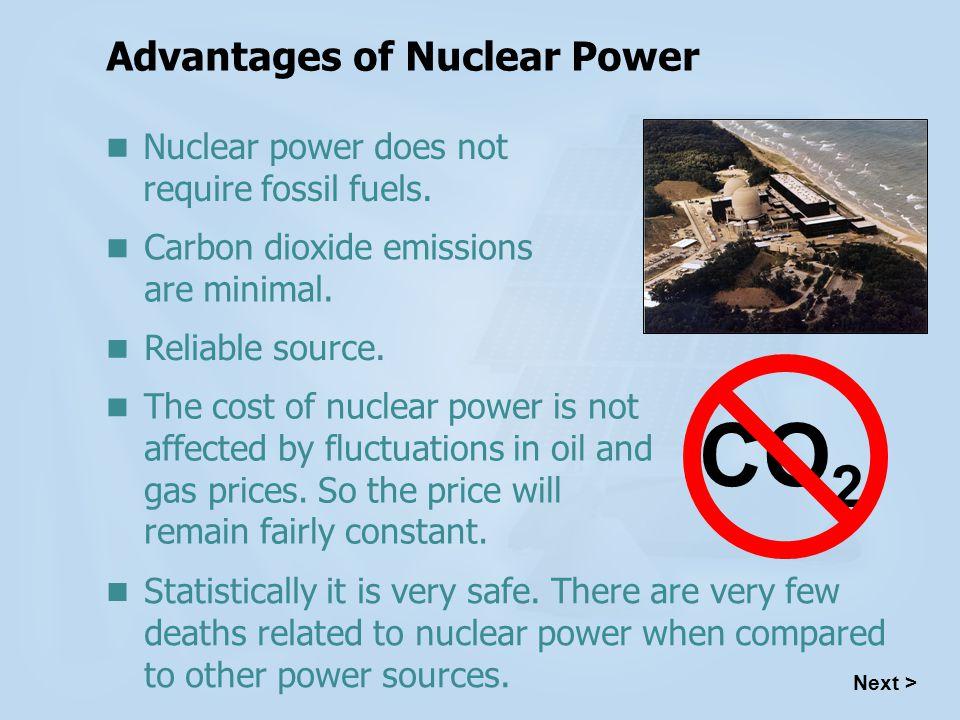 advantages of fission