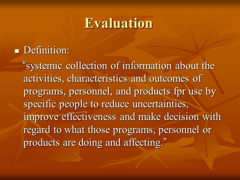 Evaluation Definition: