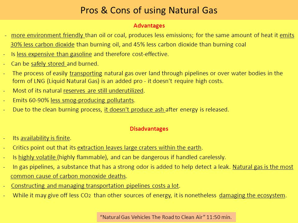 pros and cons of natural gas