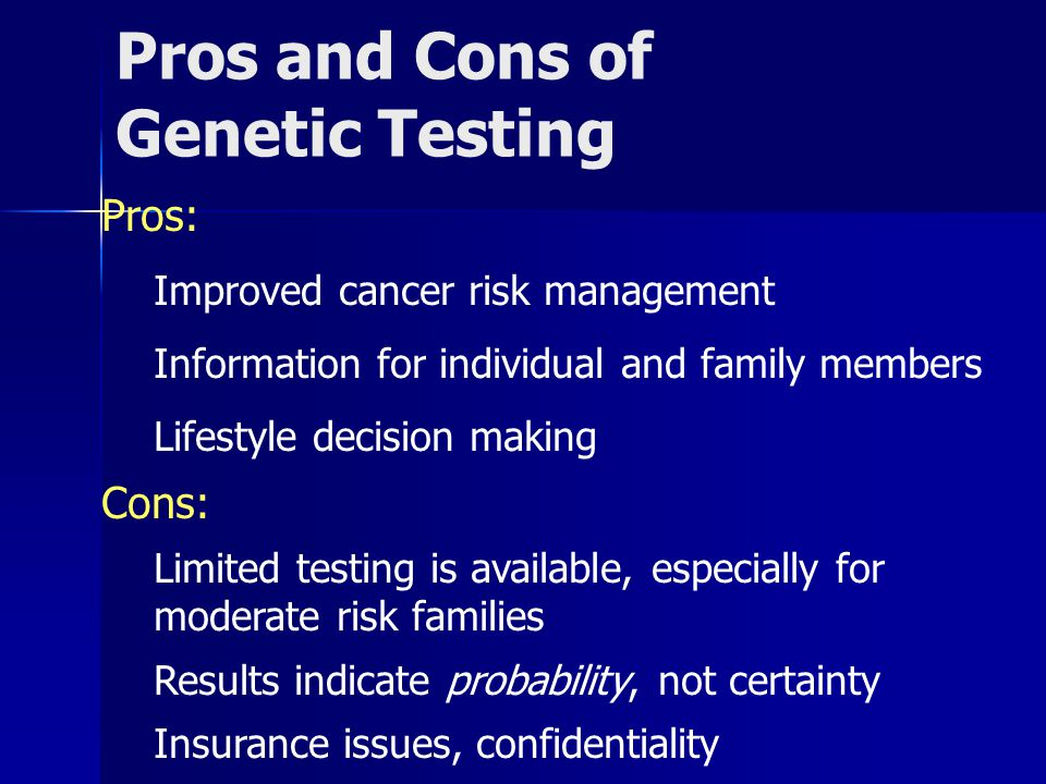 a discussion on pros and cons of genetic manipulation Gene therapy is a technique used to correct defective genes pros and cons gene therapy is the manipulation of the expression of specific.