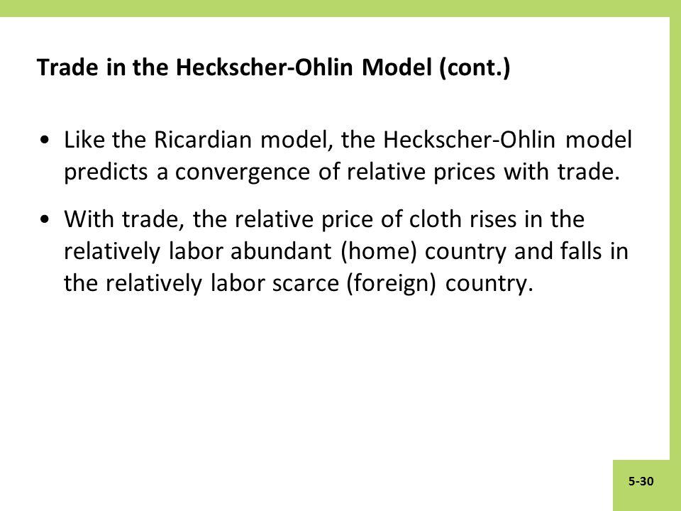 the heckscher ohlin model Heckscher-ohlin model the heckscher–ohlin model (h–o model) is a general equilibrium mathematical model of international trade, developed by eli heckscher and.