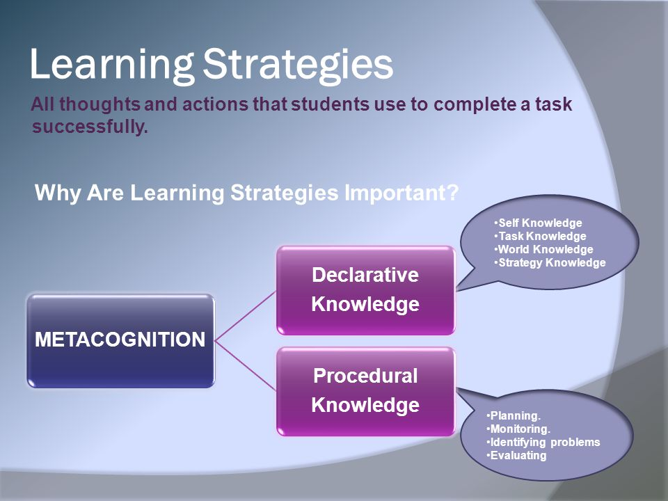 Learning Strategies Why Are Learning Strategies Important