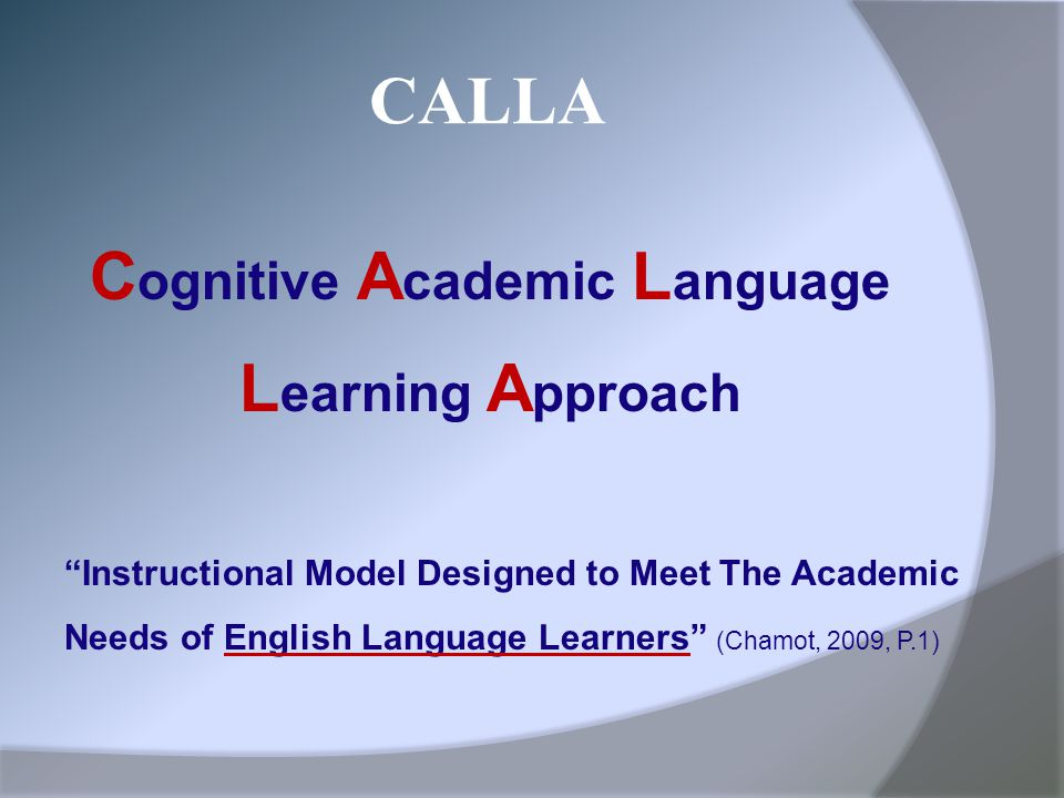 Cognitive Academic Language
