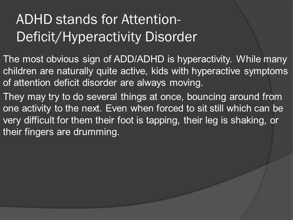 Thesis attention deficit hyperactivity disorder