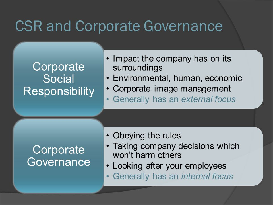 """defining corporate social responsibility and understanding its effects Legitimacy, obligations and impact of corporate social responsibility standards for example, one has to be careful in understanding and defining the term """"csr"""" because it is sometimes."""