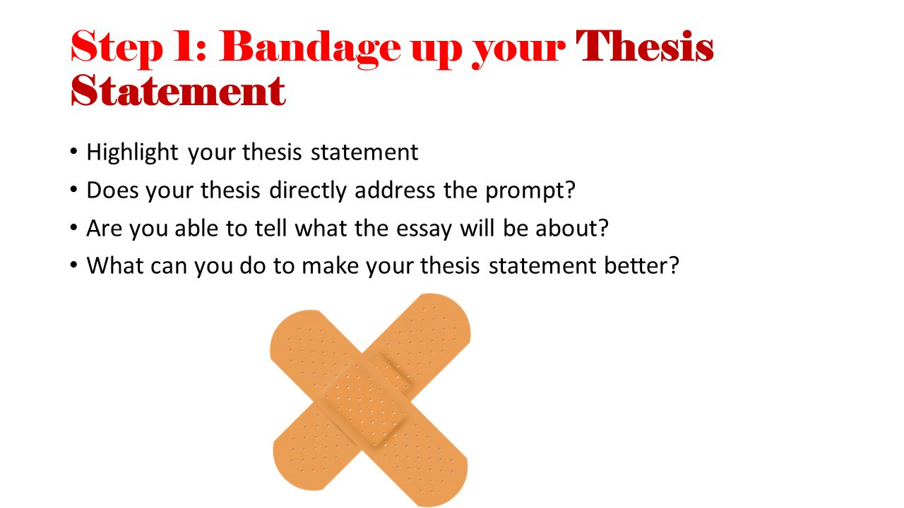 Step 1: Bandage up your Thesis Statement