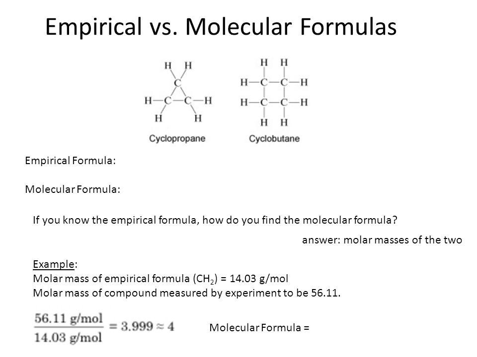 empirical and molecular formula Empirical formula definition, a chemical formula indicating the elements of a compound and their relative proportions, as (ch2o)n see more.