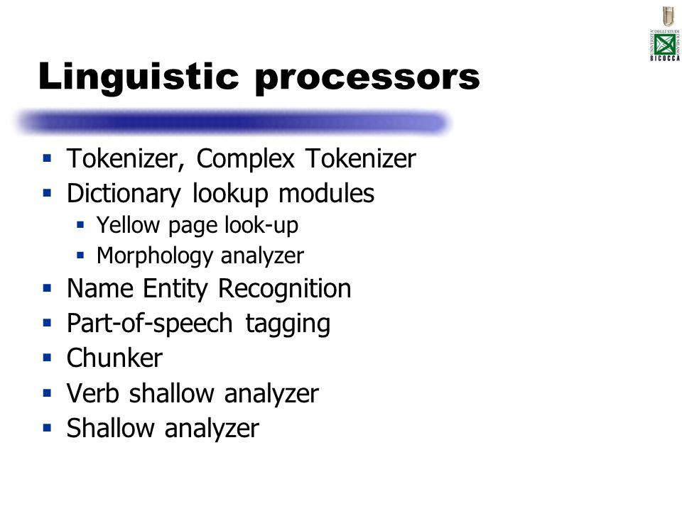 Linguistic processors