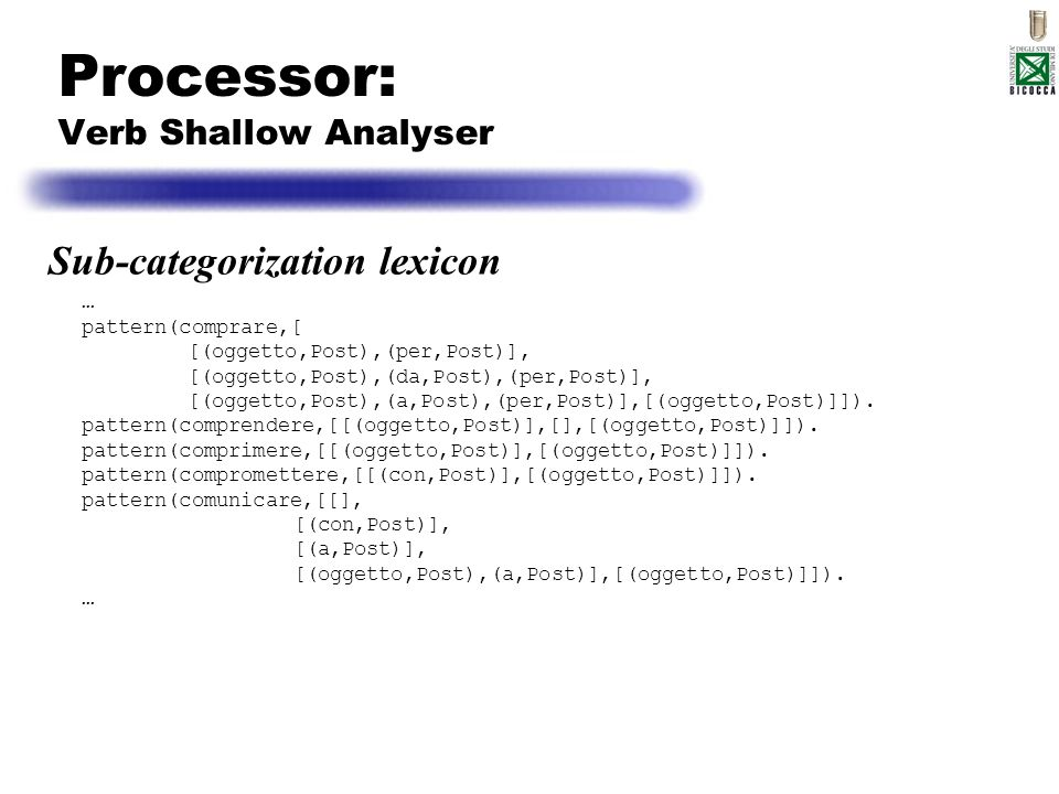 Processor: Verb Shallow Analyser
