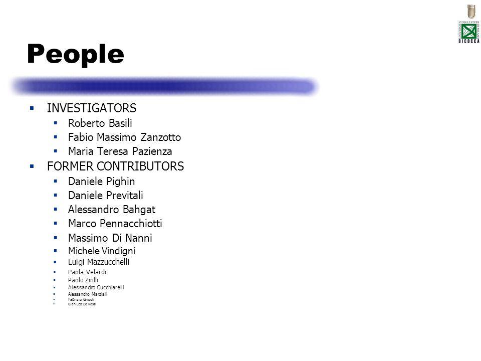 People INVESTIGATORS FORMER CONTRIBUTORS Roberto Basili