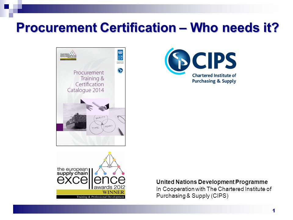 Procurement Certification Who Needs It Ppt Video Online Download
