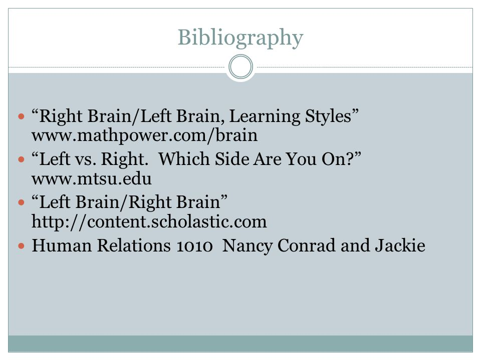 left brain vs right brain learning styles essay Learn about left-brain, right-brain, and whole-brain learners  learn about the  characteristics of left-brain learners and some effective methods for teaching.