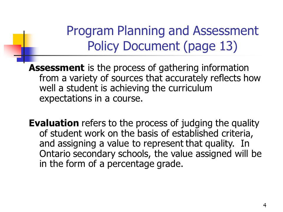 Program Planning and Assessment Policy Document (page 13)