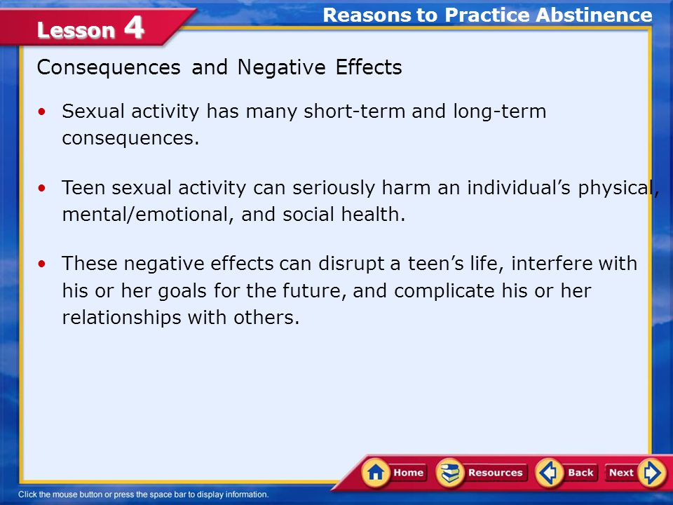 negative impact of premarital sex This study focuses on premarital sex among adolescents and youth in  peer  relationship and living community can have both good and bad impact on sexual.