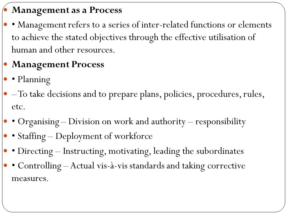 Management as a Process
