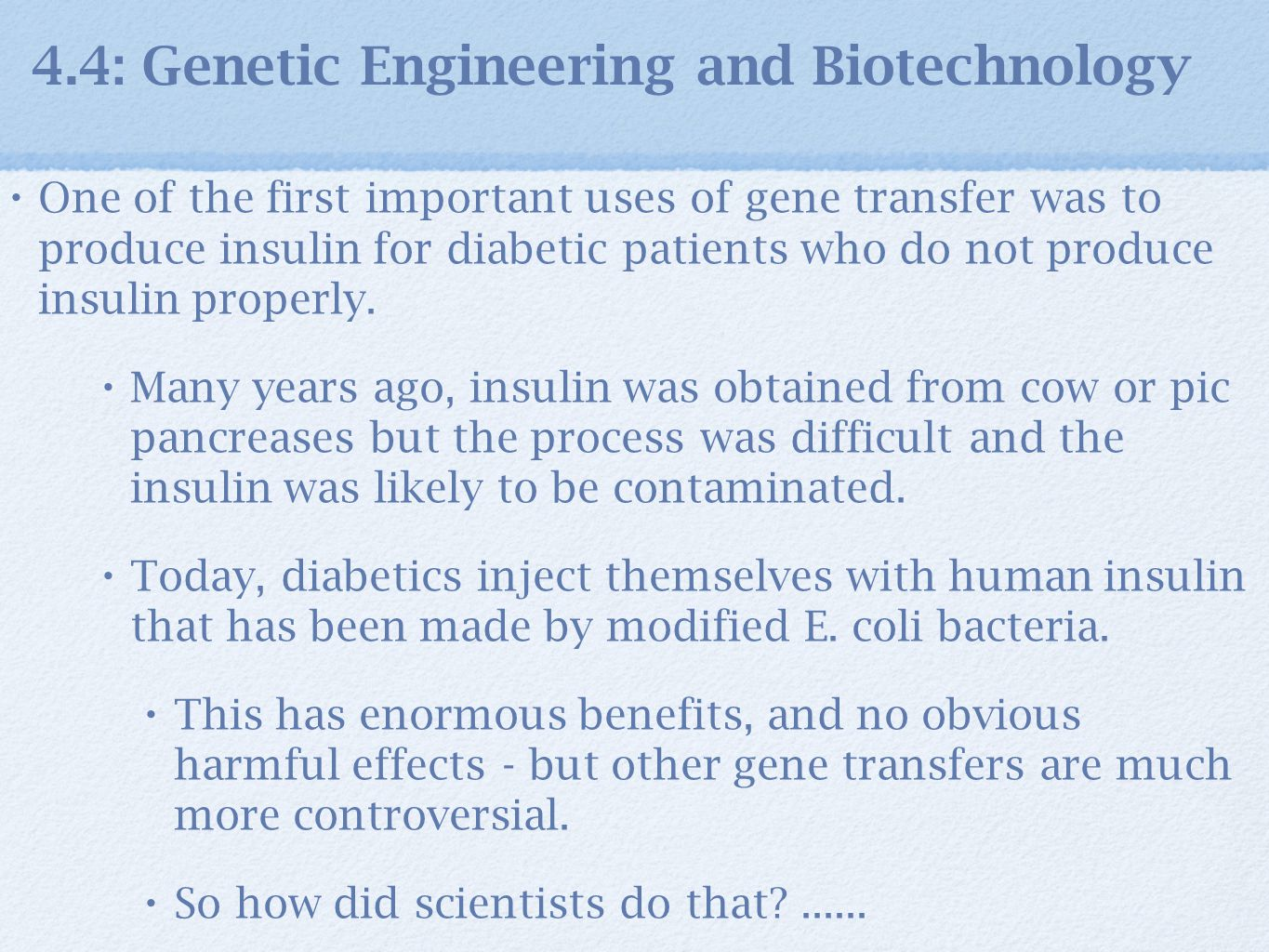 a definition of genetic engineering and the benefits of biotechnology The benefits of genetic engineering in each field is mentioned below human cloning: almost everyday, a scientist makes a new breakthrough in the field of human engineering mammals have been successfully cloned and the human genome project has been completed.