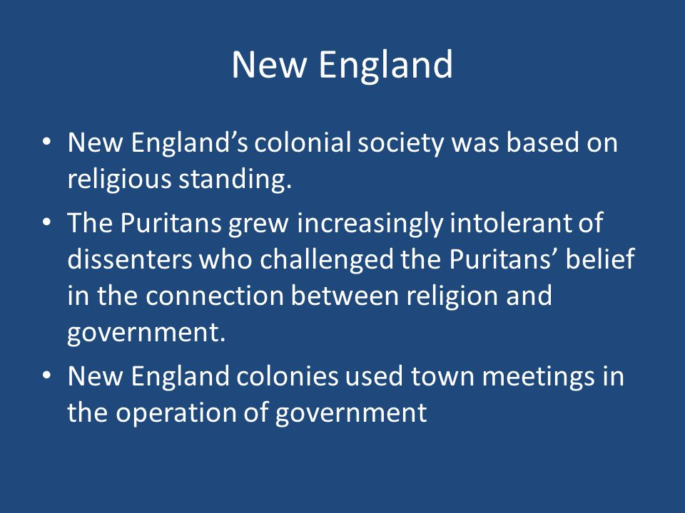 what was the relationship between church and state in colonial new england