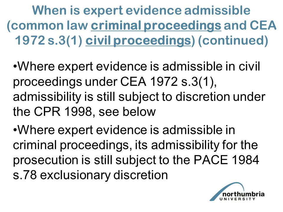 law essays admissible criminal evidence Evidence law essay question 1  in the law of evidence privilege allows relevant, reliable and otherwise admissible evidence to be suppressed for reasons of public policy in civil and.