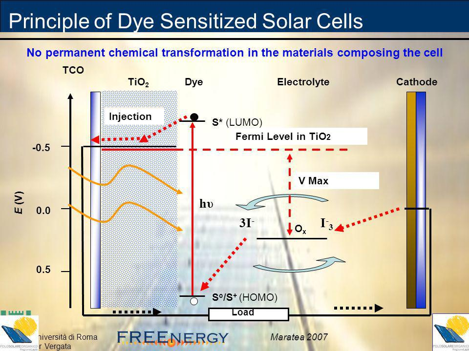 Principle of Dye Sensitized Solar Cells