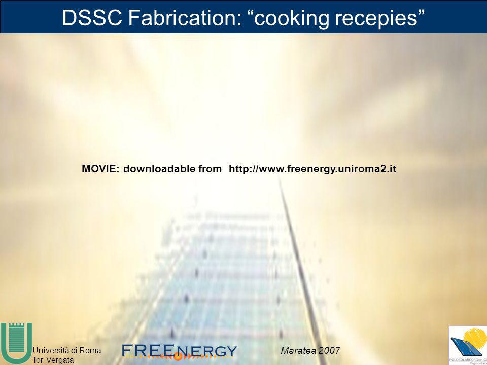 DSSC Fabrication: cooking recepies