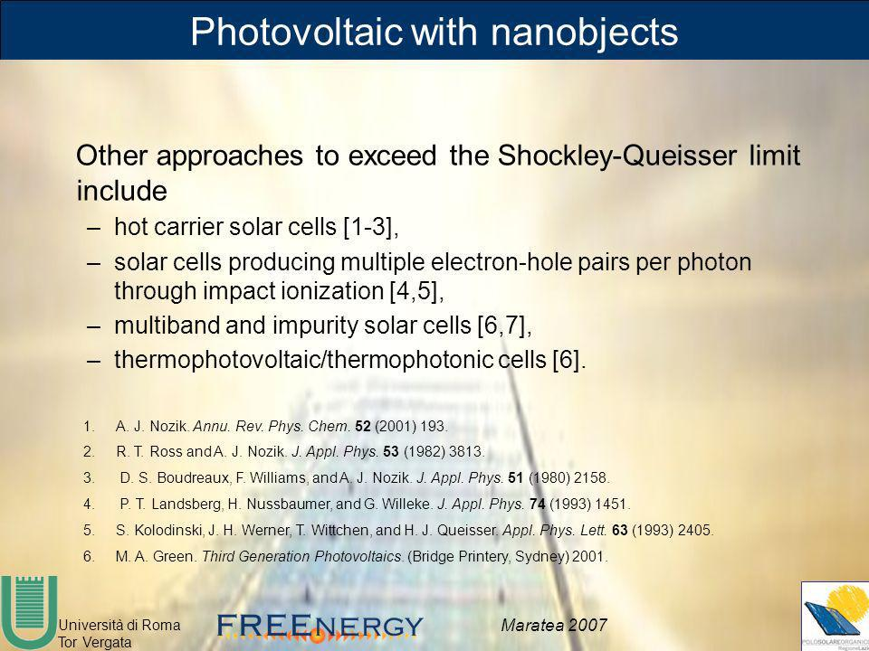 Photovoltaic with nanobjects