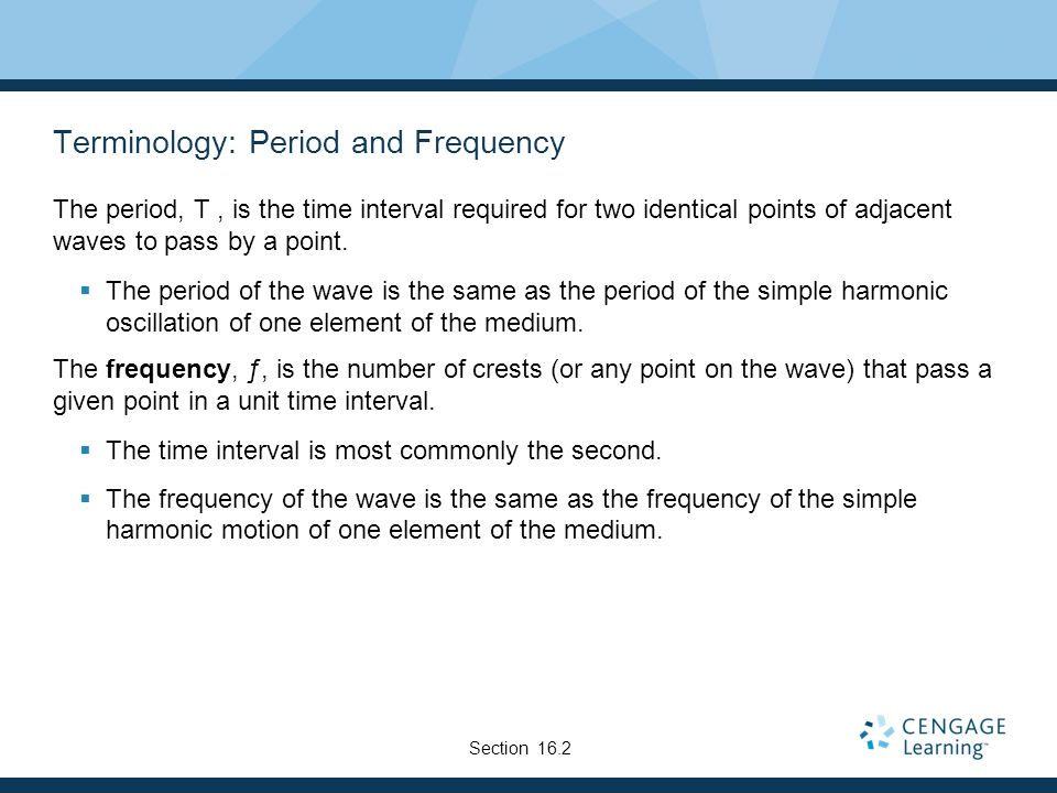 Terminology: Period and Frequency