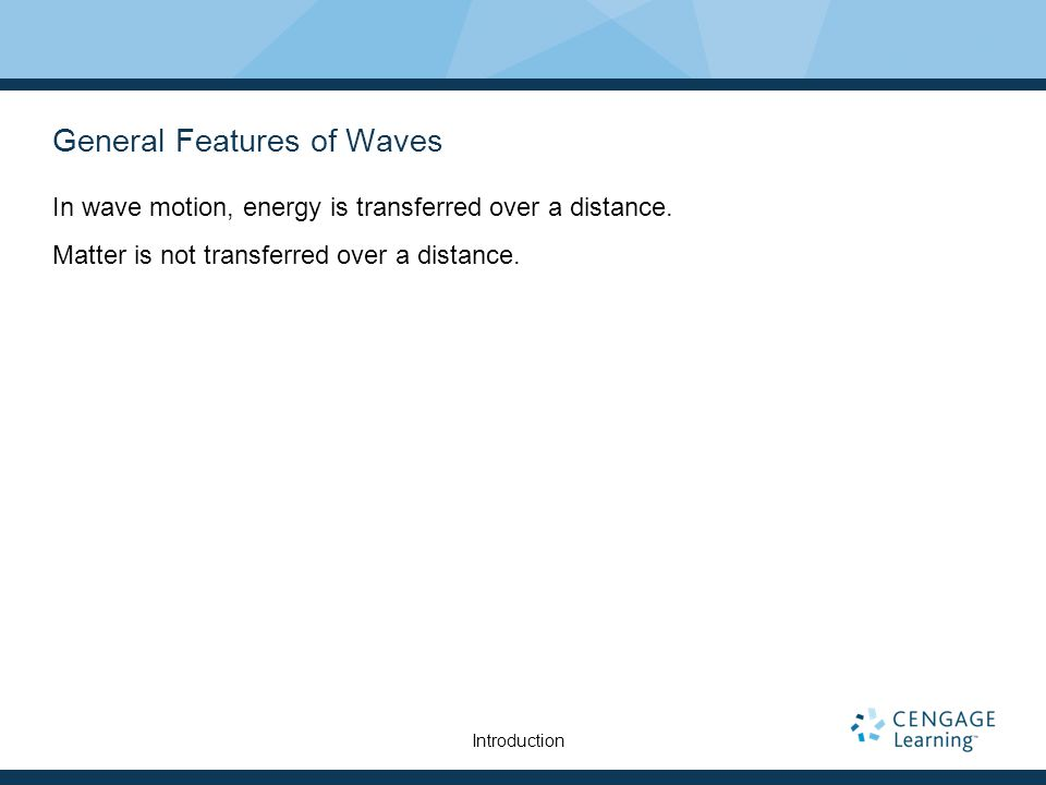 General Features of Waves