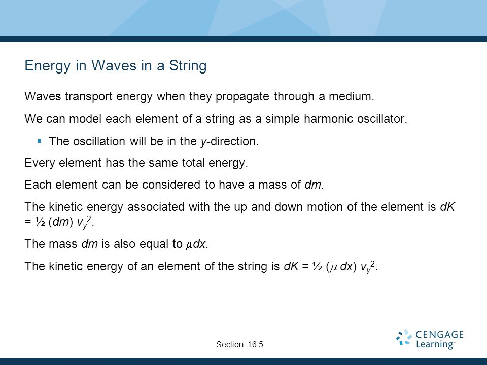 Energy in Waves in a String