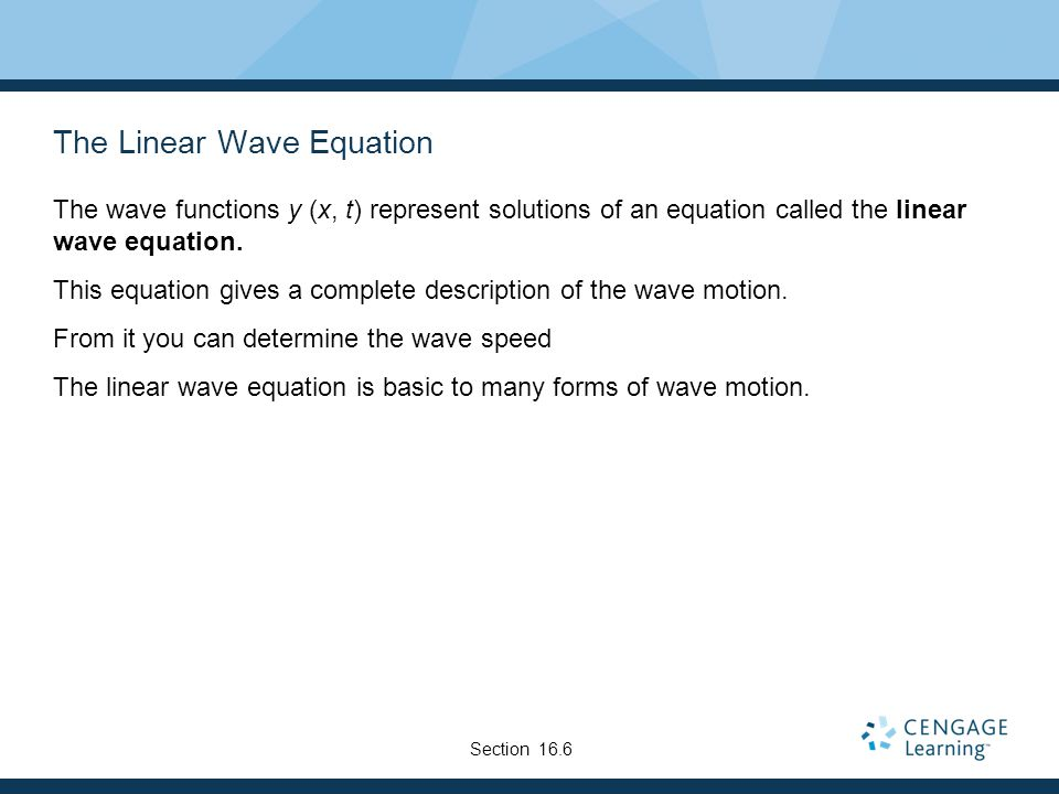 The Linear Wave Equation