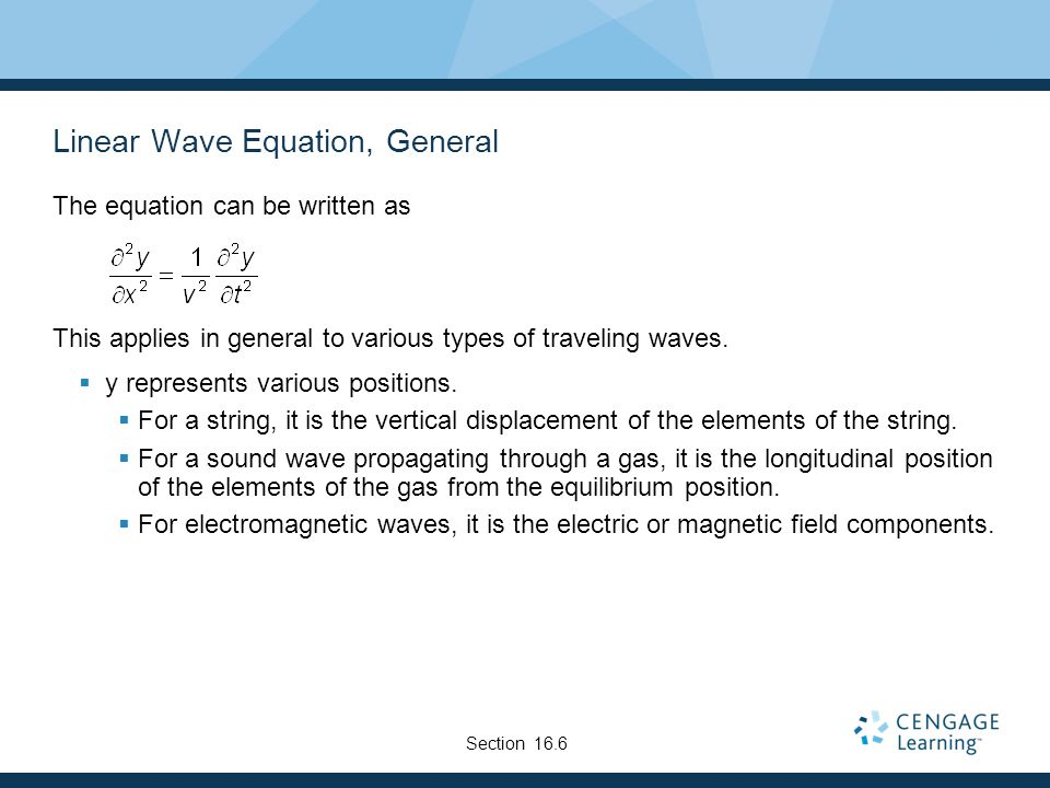 Linear Wave Equation, General