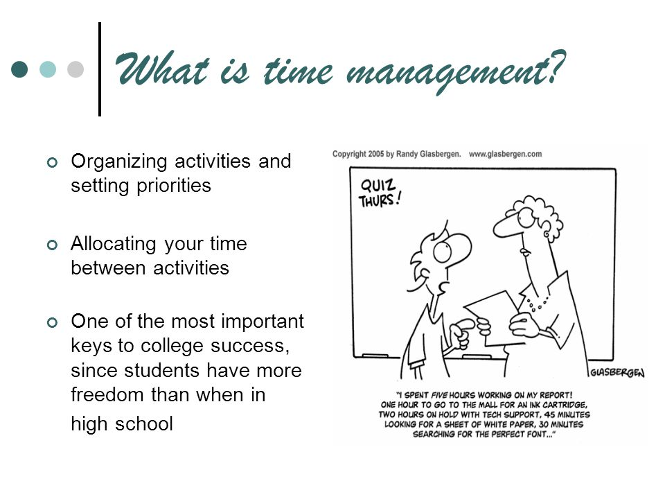 the importance of time management on a students collegiate success