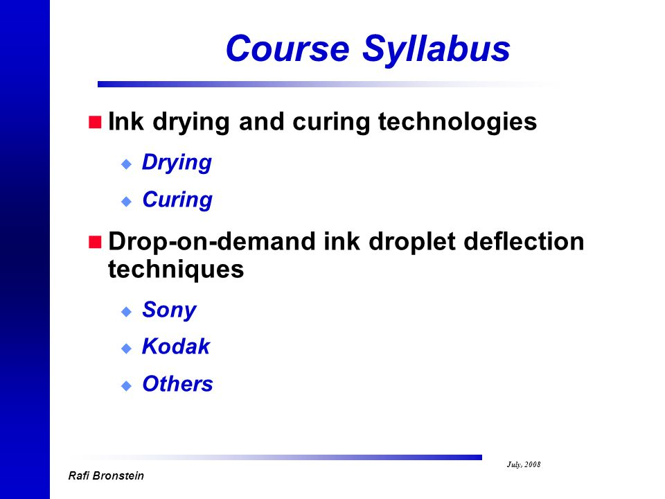 Drying And Curing ~ Inkjet printing technology fundamentals rafi