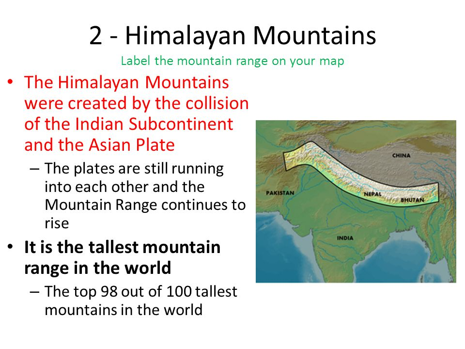 himalaya indian subcontinent and himalayas To the himalayas india owes the prominent features of her climate the himalaya­ yes is the abode of snow as such they act as reservoir of water in which many large perennial rivers and their tributaries have their sources.
