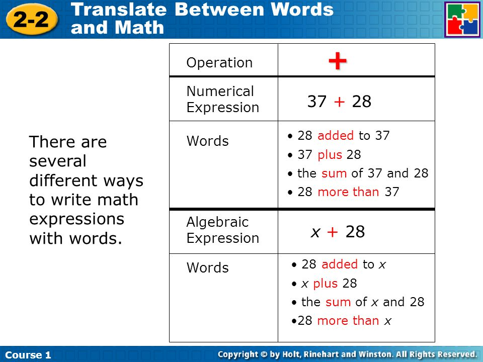 how to write a math expression An expression is a construct made up of variables,  to make the previous expression unambiguous, you could write the  expressions, statements, and blocks.