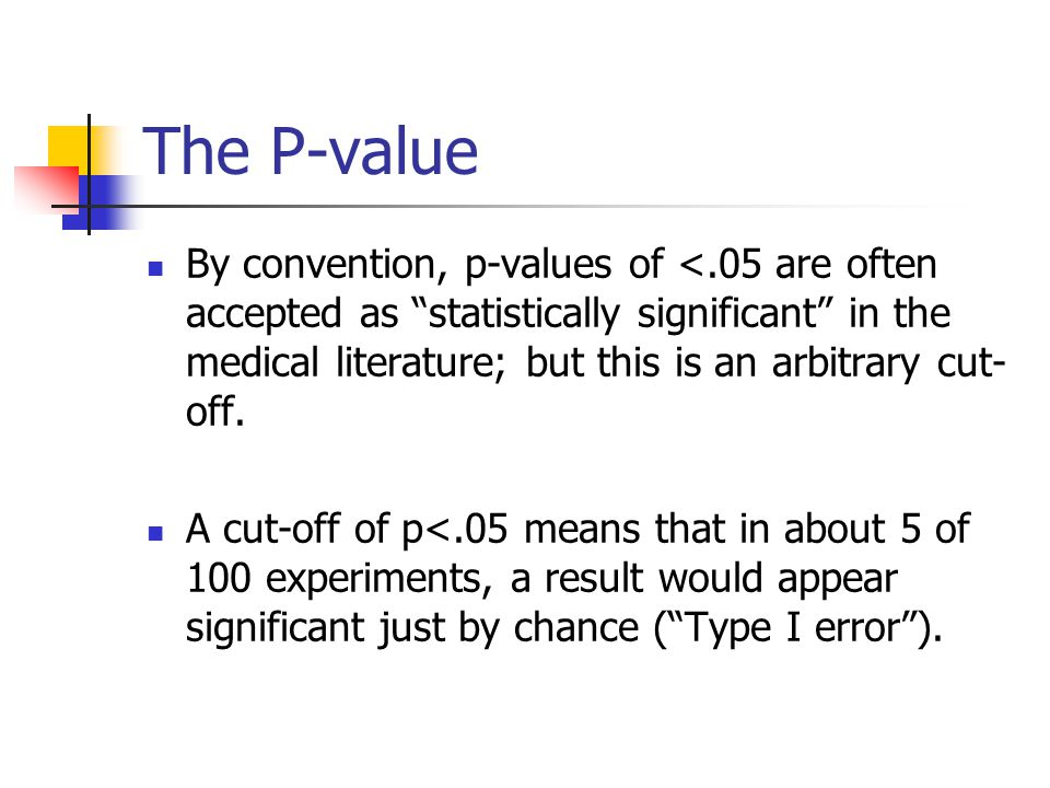 how to know if a p value is significant