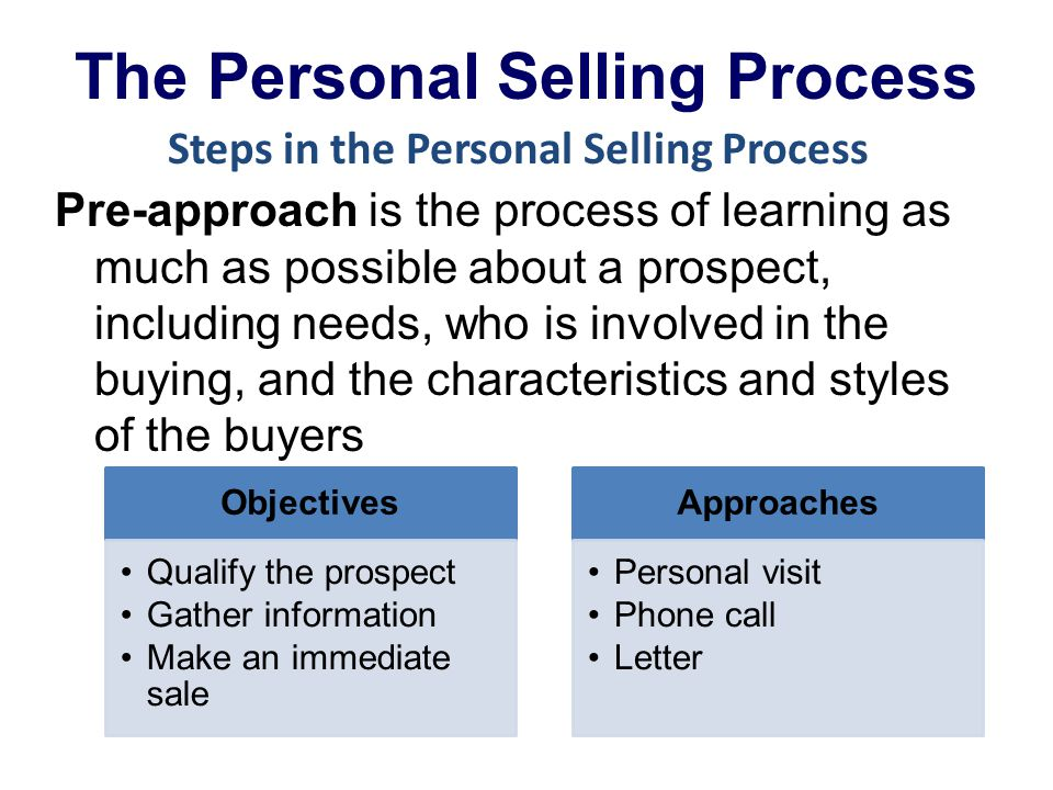 sale personal selling This is to identify and qualify prospects in order to help sales people in the process of selling 7 important stages in personal selling process.