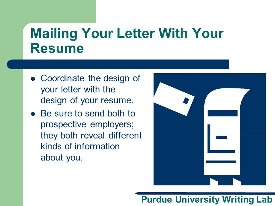 Mailing Your Letter With Your Resume