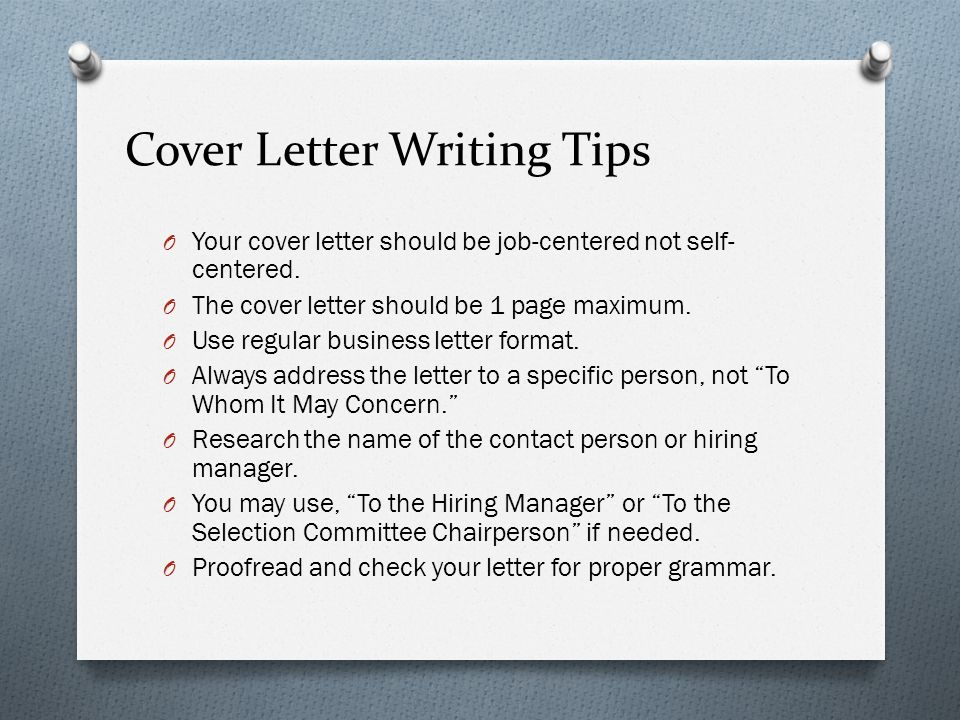 cover letter writing tips - Cover Letter Writing Tips