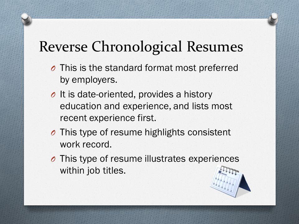 most recent resumes