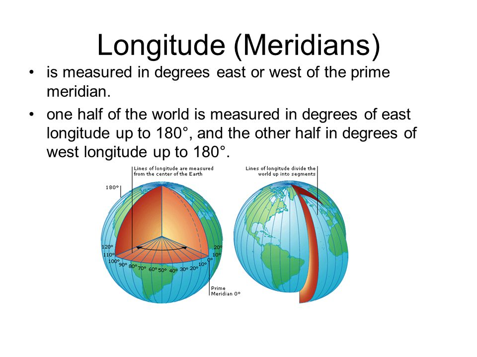 the longitude Encyclopedic entry longitude is the measurement east or west of the prime meridian.