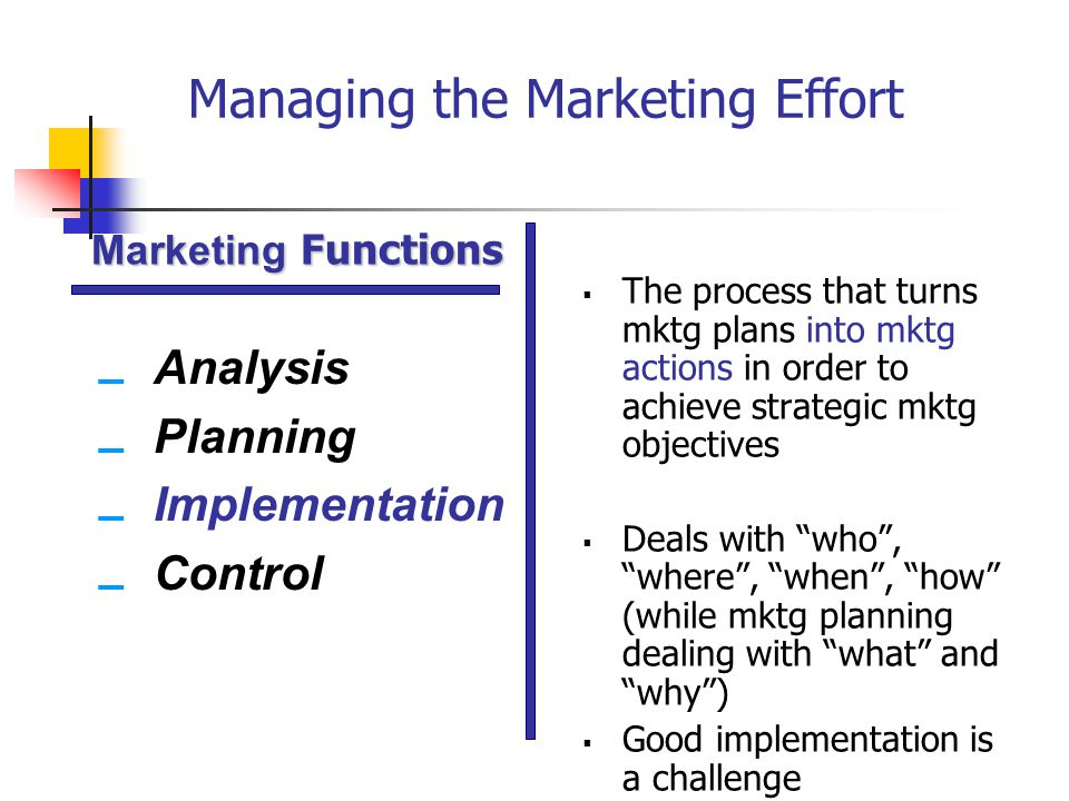 managing the total marketing effort essay Marketing management marketing research advertising management mass communication total quality management six sigma - introduction six sigma.