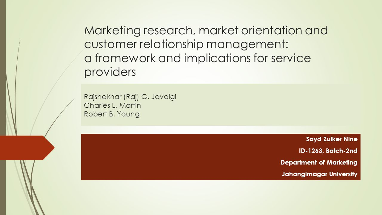 customer relationship management related studies about mosquito